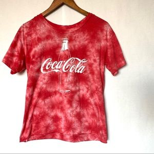 Coca-Cola tie dyed graphic t-shirt